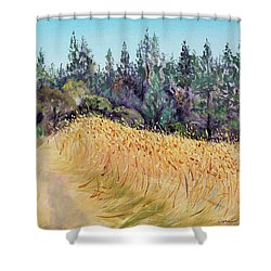 Mendocino High Grass Meadow At Susan's Place In July Shower Curtain