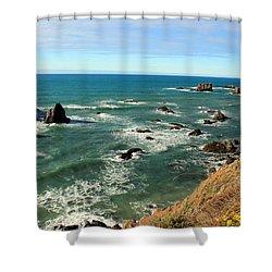 Mendocino Rocks Shower Curtain