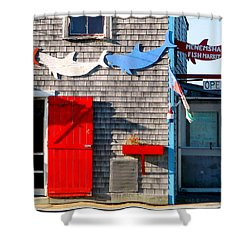 Menemsha Fish Market 3 Shower Curtain