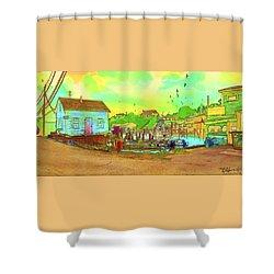 Menemsha Harbor Shower Curtain by Gerry Robins