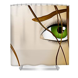 Meow Shower Curtain by Sandra Hoefer