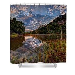 Meramec River  Shower Curtain