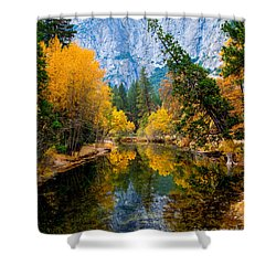 Merced River And Leaning Pine Shower Curtain