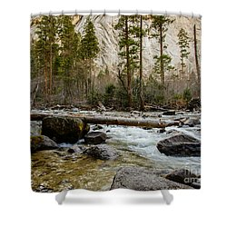 Merced River From Happy Isles 2 Shower Curtain