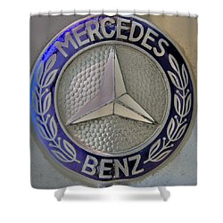 Mercedes Benz Badge Blue Shower Curtain