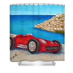 Mercedes Benz W196 Formula Shower Curtain by Pamela Allegretto