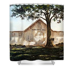 Merchants Hall Shower Curtain by Lee Piper