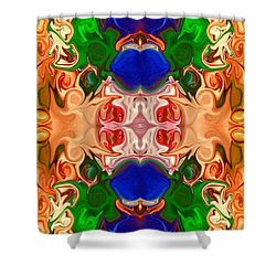 Shower Curtain featuring the digital art Merging Consciousness With Abstract Artwork By Omaste Witkowski  by Omaste Witkowski