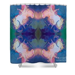 Merging Fantasies Abstract Pattern Artwork By Omaste Witkowski Shower Curtain by Omaste Witkowski