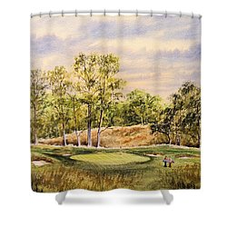 Shower Curtain featuring the painting Merion Golf Club by Bill Holkham