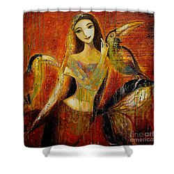 Mermaid Bride Shower Curtain by Shijun Munns