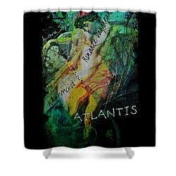 Shower Curtain featuring the digital art Mermaid Love Spell by Absinthe Art By Michelle LeAnn Scott