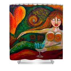 Mermaid Musing Shower Curtain