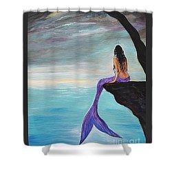 Mermaid Oasis Shower Curtain by Leslie Allen