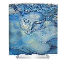 Mermaid Shower Curtain by Ramona Johnston