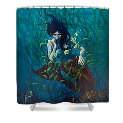 Mermaid Shower Curtain by Rob Corsetti