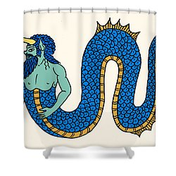 Merman Shower Curtain by Science Source