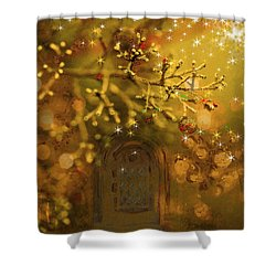 Merry Christmas Shower Curtain by Angela A Stanton
