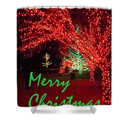 Shower Curtain featuring the photograph Merry Christmas by Darren Robinson