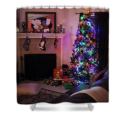Shower Curtain featuring the photograph Merry Christmas From My Home To Yours by Trish Mistric