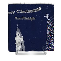 Merry Christmas From Philly Shower Curtain by Photographic Arts And Design Studio
