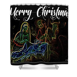 Merry Christmas Shower Curtain by George Pedro