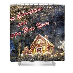 Merry Christmas Shower Curtain by Skip Nall