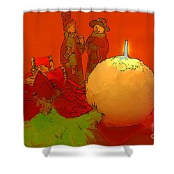 Shower Curtain featuring the photograph Merry Christmas by Teresa Zieba