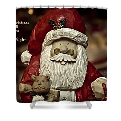 Merry Christmas To All Shower Curtain by Trish Tritz