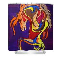 Shower Curtain featuring the painting Merry Go Round Carousel Horse by Janice Rae Pariza