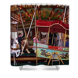 Merry Go Round Shower Curtain by Dany Lison