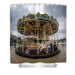 Merry-go-round Shower Curtain