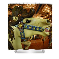 Merry Go Round Shower Curtain by Sami Martin