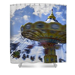 Merry Go Round Swings Shower Curtain