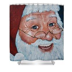 Merry Santa Shower Curtain