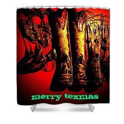 Merry Texmas Shower Curtain