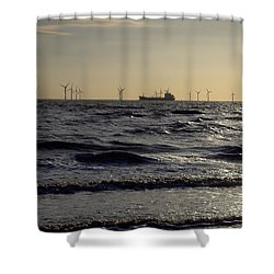 Mersey Tanker Shower Curtain