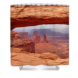 Mesa Arch In Canyonlands National Park Shower Curtain by Mitchell R Grosky
