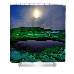 Shower Curtain featuring the photograph Mesa Arch In Green by David Andersen