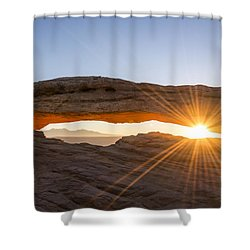 Mesa Arch Sunrise 7 - Canyonlands National Park - Moab Utah Shower Curtain by Brian Harig