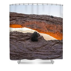 Mesa Arch Sunrise Panorama - Canyonlands National Park - Moab Utah Shower Curtain by Brian Harig