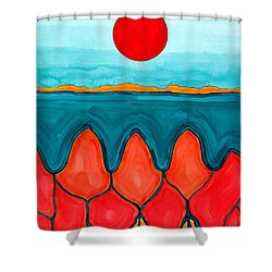 Mesa Canyon Rio Original Painting Shower Curtain