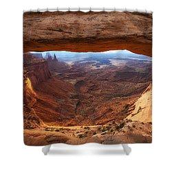 Mesa Sunrise Window Shower Curtain by Darren  White