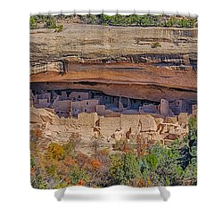 Mesa Verde Cliff Dwelling Shower Curtain by Paul Freidlund
