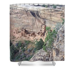 Mesa Verde Colorado Cliff Dwellings 1 Shower Curtain by Richard W Linford