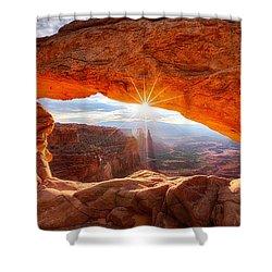 Mesa's Sunrise Shower Curtain