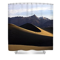 Shower Curtain featuring the photograph Mesquite Dunes At Dawn by Joe Schofield