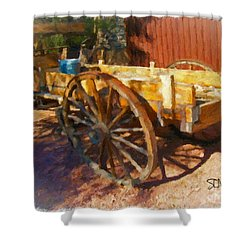 Mesquite Wagon Shower Curtain