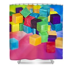 Mess Of Colour Shower Curtain by Dee Cresswell
