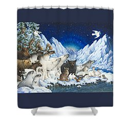 Message Of Peace Shower Curtain